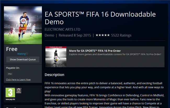 kujirebnfvkj Download the  FIFA 16 Demo