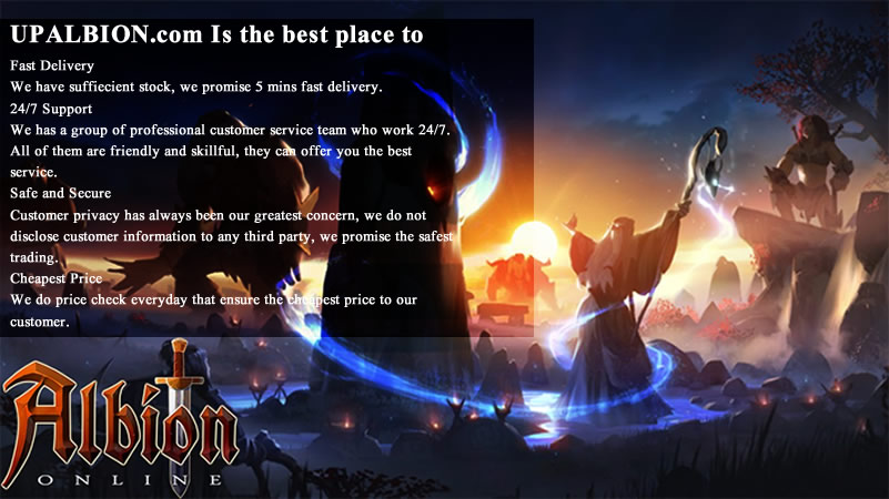 max Choose UPAlbion As The Safest Place To Buy Cheap Albion Online Gold
